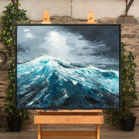 Ice Waters - An Original Seascape Art Painting By Paul Kenton