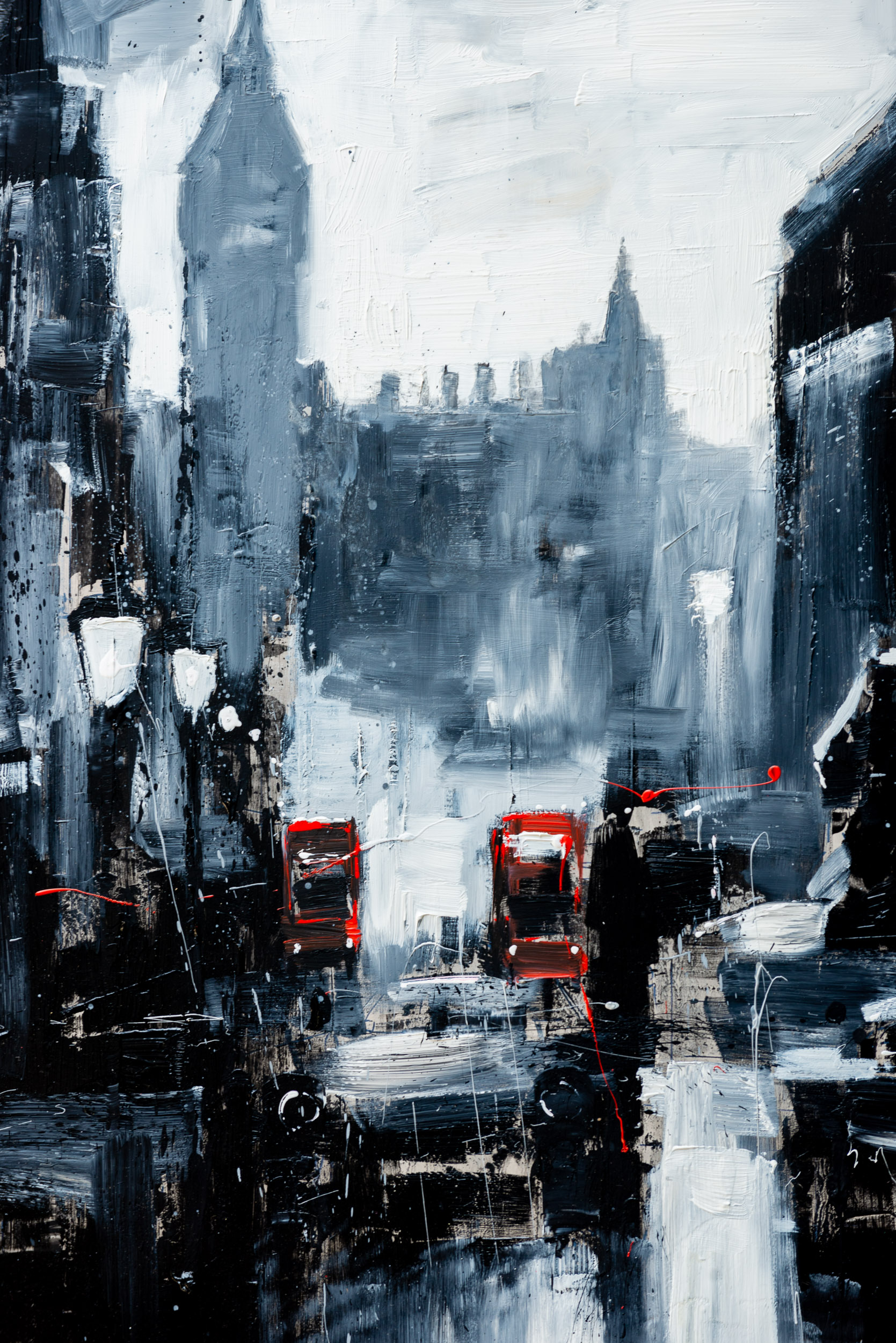 Immerse Into London - A London cityscape original painting by Paul Kenton