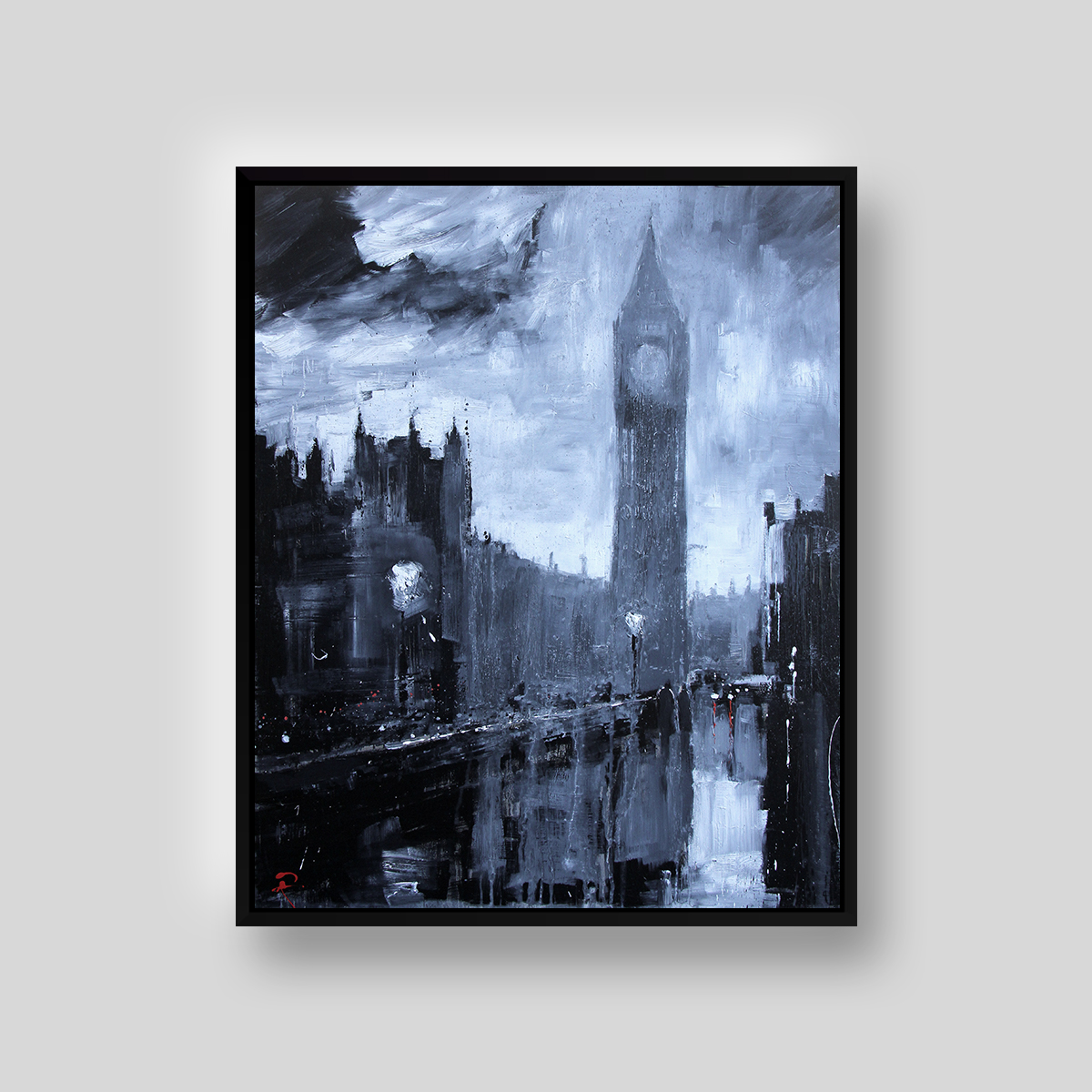 Winds Over Westminster by Paul Kenton, UK contemporary cityscape artist, an original painting from his London Collection