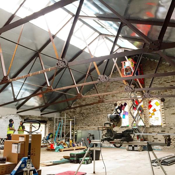 The new studio of Paul Kenton, UK contemporary cityscape artist, where new original paintings will be created