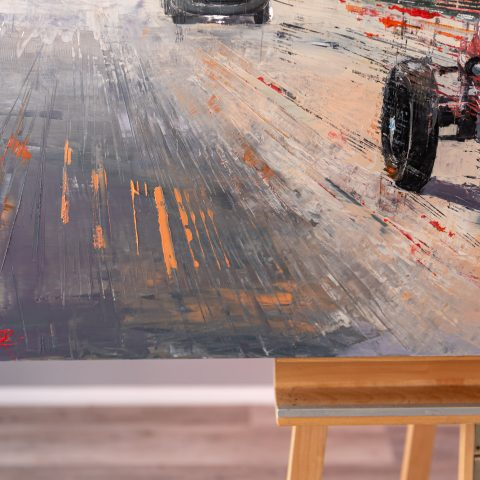 Racing Revival by Paul Kenton, UK Contemporary artist, an original painting from his Motorsports collection