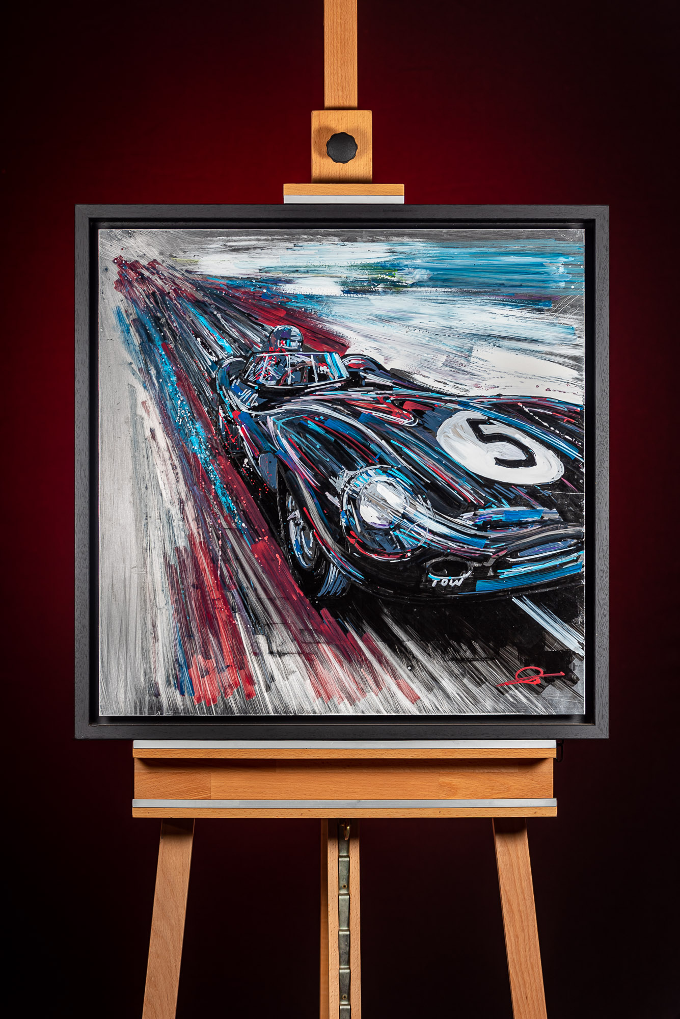 Speed of Sound by Paul Kenton, UK Contemporary artist, an original painting from his Motorsports collection
