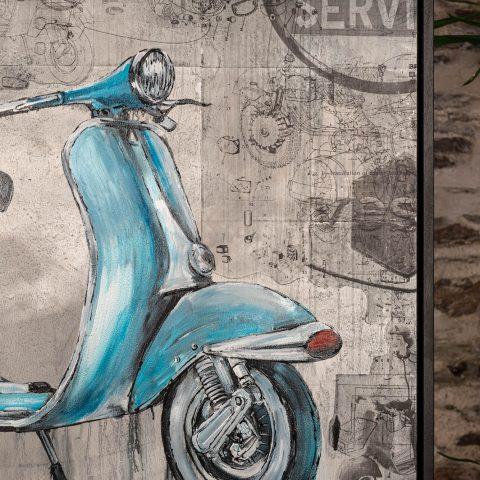Vita Della Vespa - An Original Motorsport Art Painting by Paul Kenton