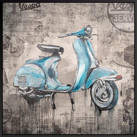 """Vita Della Vespa"" - An Original Motorsport Art Painting by Paul Kenton"