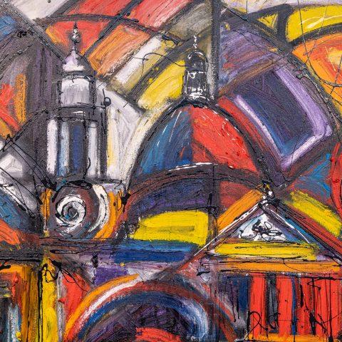 St Pauls Abstract - Close-Up Image