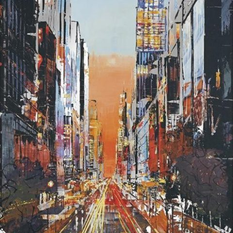 Electric City by Paul Kenton, UK contemporary cityscape artist, a limited edition print from his New York Collection