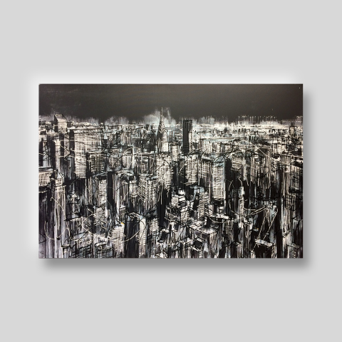 Manhattan by Paul Kenton, UK contemporary cityscape artist, a limited edition print from his New York Collection