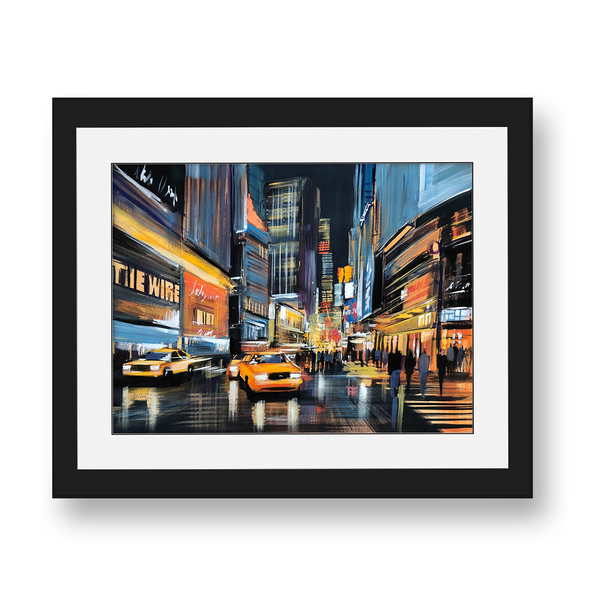 Bright Lights Big City by Paul Kenton, UK contemporary cityscape artist, an original painting of Times Square from his New York Collection