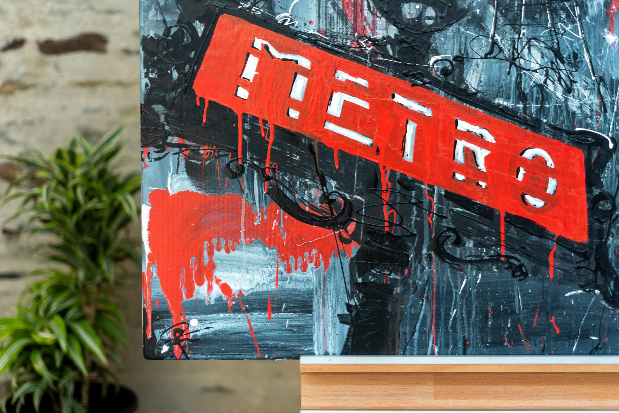 Paris Medley by Paul Kenton, UK contemporary cityscape artist, an original painting from his Paris Collection