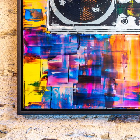 Ghettoblaster by Paul Kenton, UK contemporary artist, an original painting from his Retro Collection