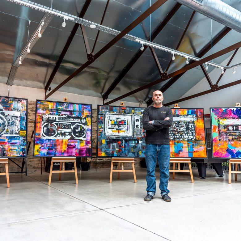 The Retro Collection by Paul Kenton, UK contemporary artist, retro inspired original paintings