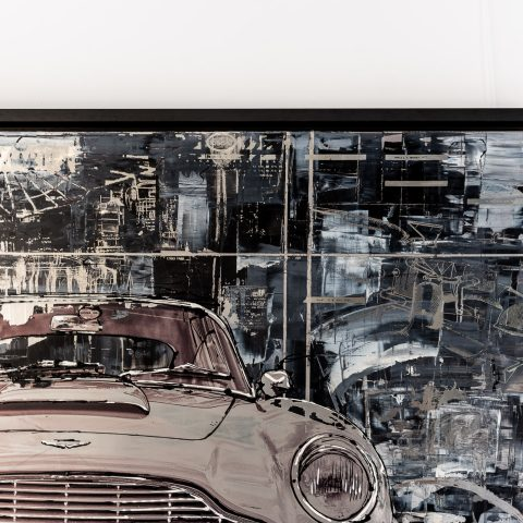 DB5 by Paul Kenton, UK Contemporary artist, an original painting from his Motorsports collection