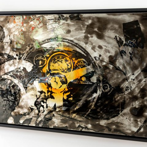 Ferarri Ignition by Paul Kenton, UK Contemporary artist, an original painting from his Motorsports collection