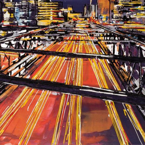Night After Night by Paul Kenton, UK contemporary cityscape artist, a limited edition print from his New York Collection