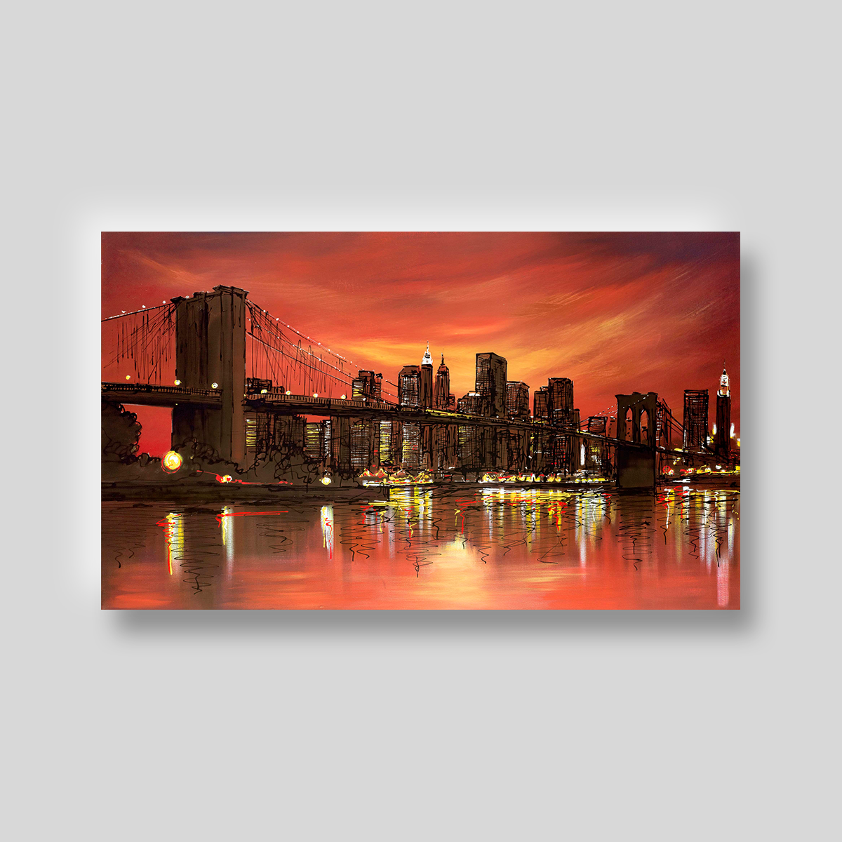 Hot City by Paul Kenton, UK contemporary cityscape artist, a limited edition print from his New York Collection