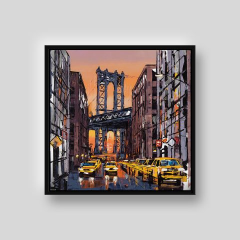 Liquid Sky by Paul Kenton, UK contemporary cityscape artist, a limited edition print from his New York Collection