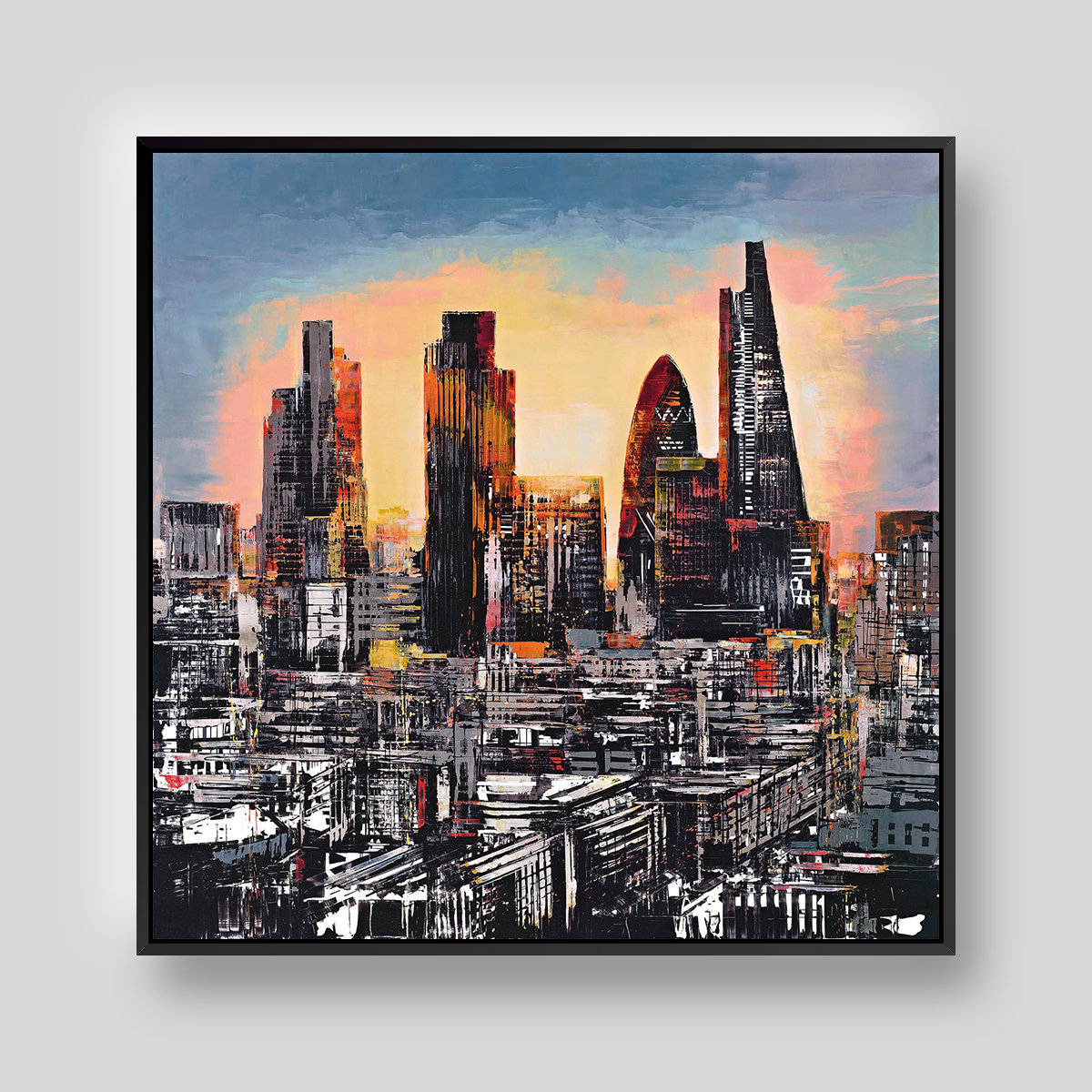 City Burst by Paul Kenton, UK contemporary cityscape artist, a limited edition print from his London Collection