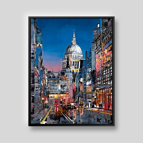 Shades of St Paul's by Paul Kenton, UK contemporary cityscape artist, a limited edition print from his London Collection