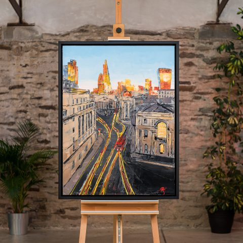 Into the City - Framed Photo