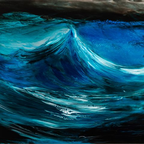 Rising Swell by Paul Kenton, UK Contemporary artist, a Original Ocean painting from his Oceans and Mountainscapes art collection