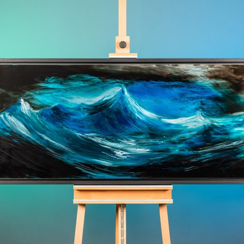 Rising Swell by Paul Kenton, UK Contemporary artist, an Original Resin Seascape Painting from his Seascapes and Mountainscapes art collection