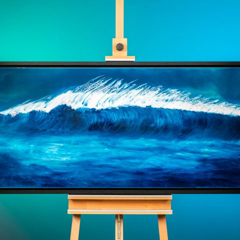 Perfection by Paul Kenton, UK Contemporary artist, an Original Seascape Wave Painting from his Seascapes and Mountainscapes art collection