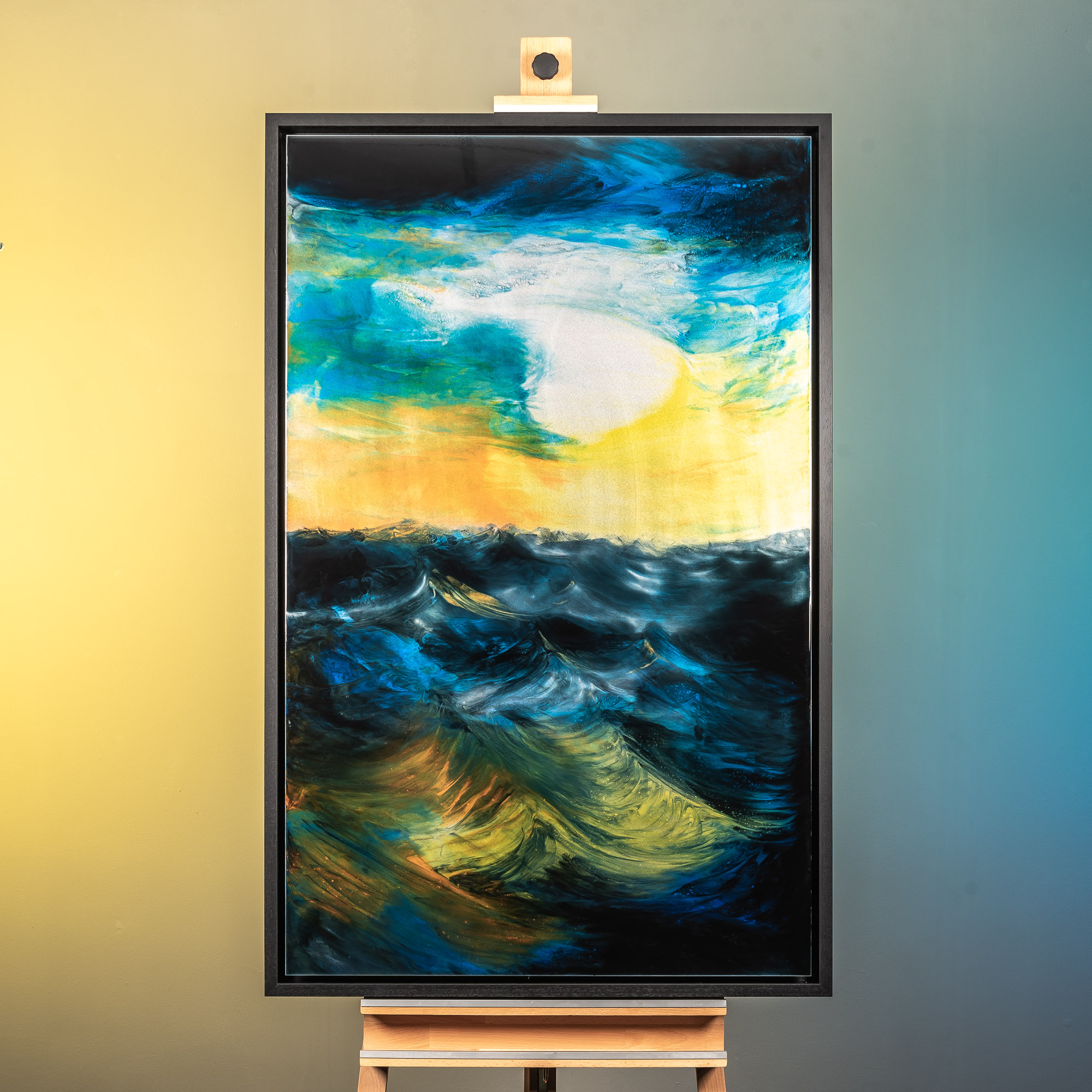 Twilight On The Ocean by Paul Kenton, UK Contemporary artist, a Original Ocean painting from his Oceans and Mountainscapes art collection