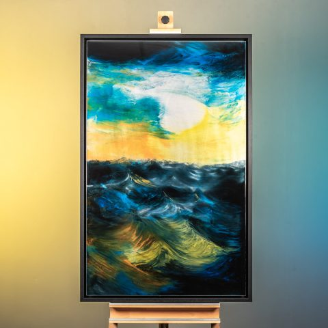 Twilight On The Ocean - Framed Photo