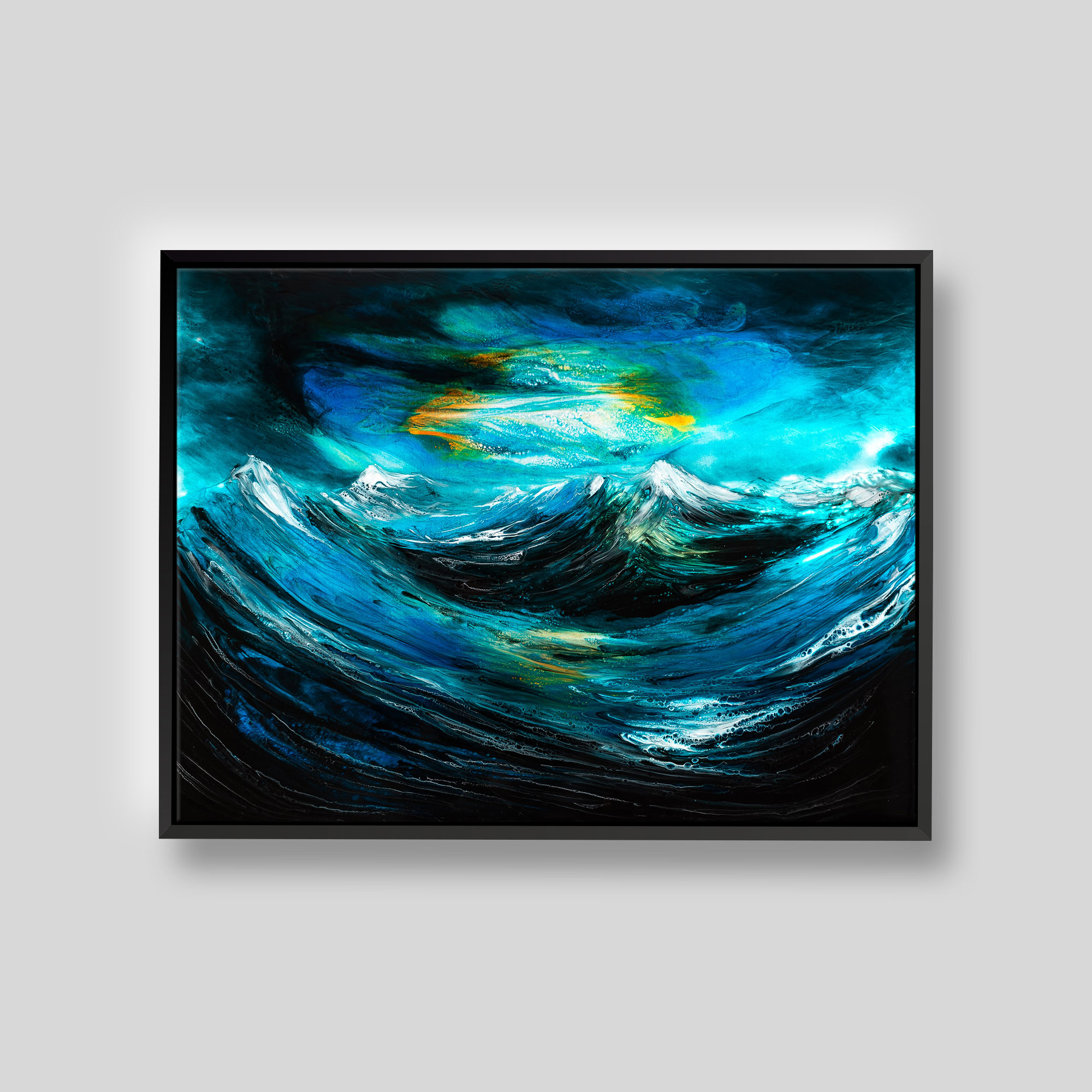 White Caps by Paul Kenton, UK Contemporary artist, a Original Ocean painting from his Oceans and Mountainscapes art collection