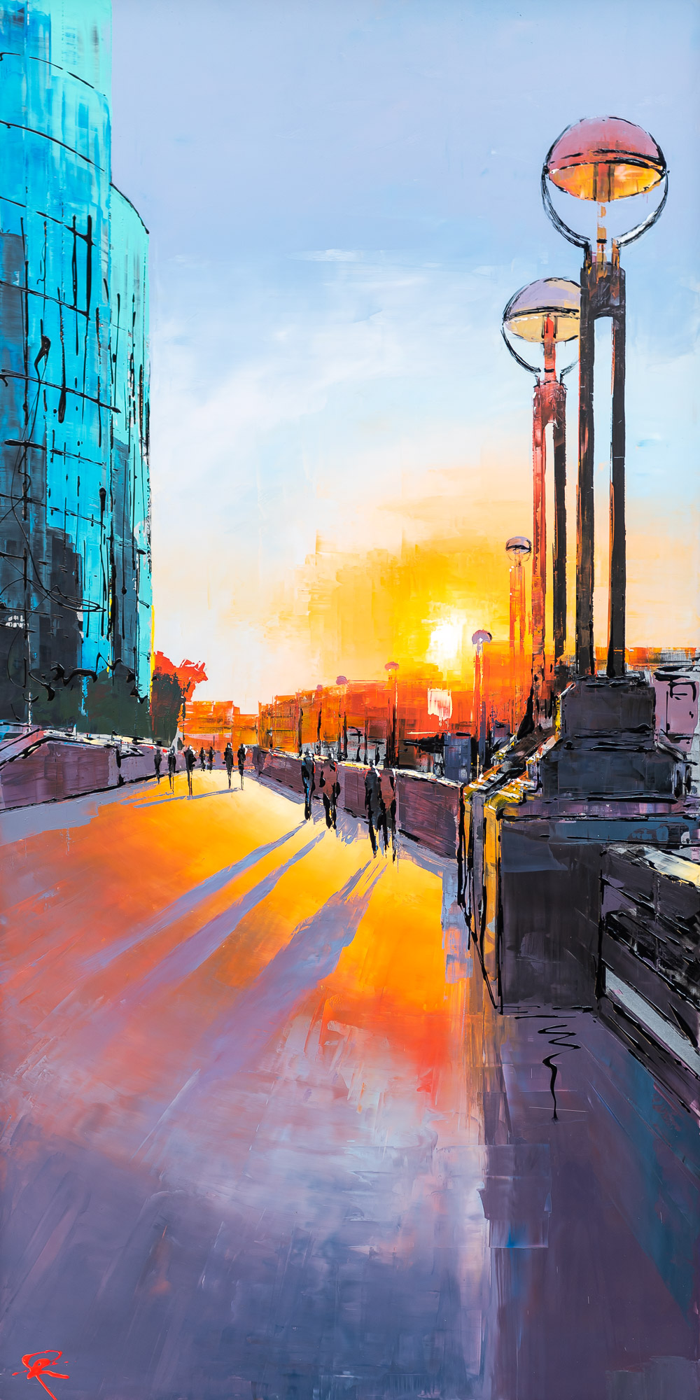 London Burns Tonight by Paul Kenton, UK contemporary cityscape artist, an original painting from the London Collection
