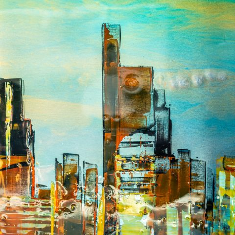 United London by Paul Kenton, UK contemporary cityscape artist, an original painting from his London Collection
