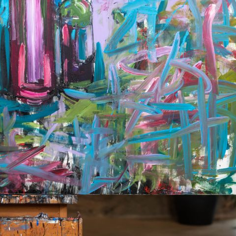 Joy - Original Large-Scale Abstract Painting by UK Contemporary Artist Paul Kenton