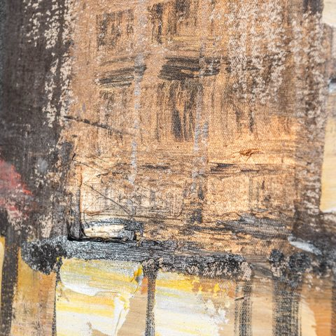 Manhattan Showers - Original Large-Scale New York Cityscape Painting by UK Contemporary Artist Paul Kenton, from the New York Collection