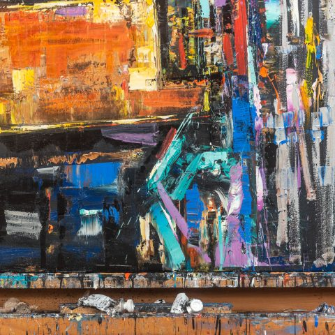 Motion - Original Large-Scale Abstract Cityscape Painting by UK Contemporary Artist Paul Kenton, from the Abstract Collection