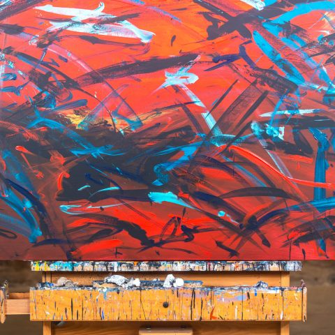 Rhythm - Abstract Art Original Painting by UK Contemporary Artist Paul Kenton, from the Abstract Collection