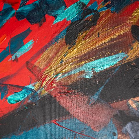 Rhythm - Original Large-Scale Abstract Painting by UK Contemporary Artist Paul Kenton, from the Abstract Collection