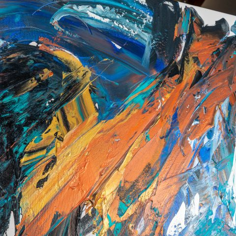 Welcome - Original Large-Scale Abstract Painting by UK Contemporary Artist Paul Kenton, from the Abstract Collection