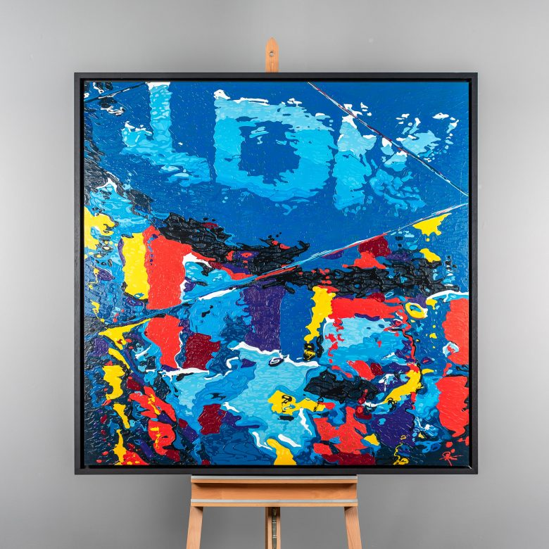 Colour Splash - Original Abstract London Painting by UK Contemporary Artist Paul Kenton, from the London Collection