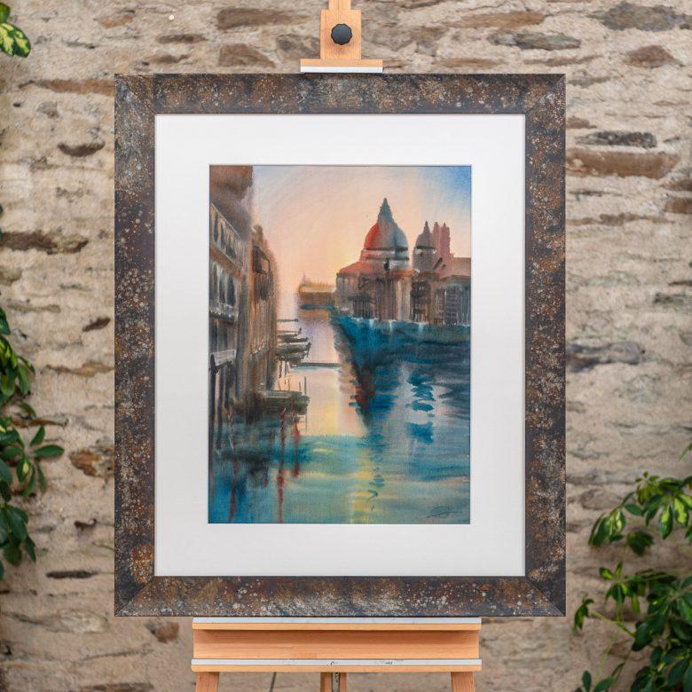 Venice Splendour - Original Venice Cityscape Painting by UK Contemporary Artist Paul Kenton, from the Watercolour Collection