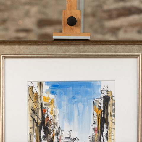 New York Rush - Original New York Cityscape Painting by UK Contemporary Artist Paul Kenton, from the Watercolour Collection