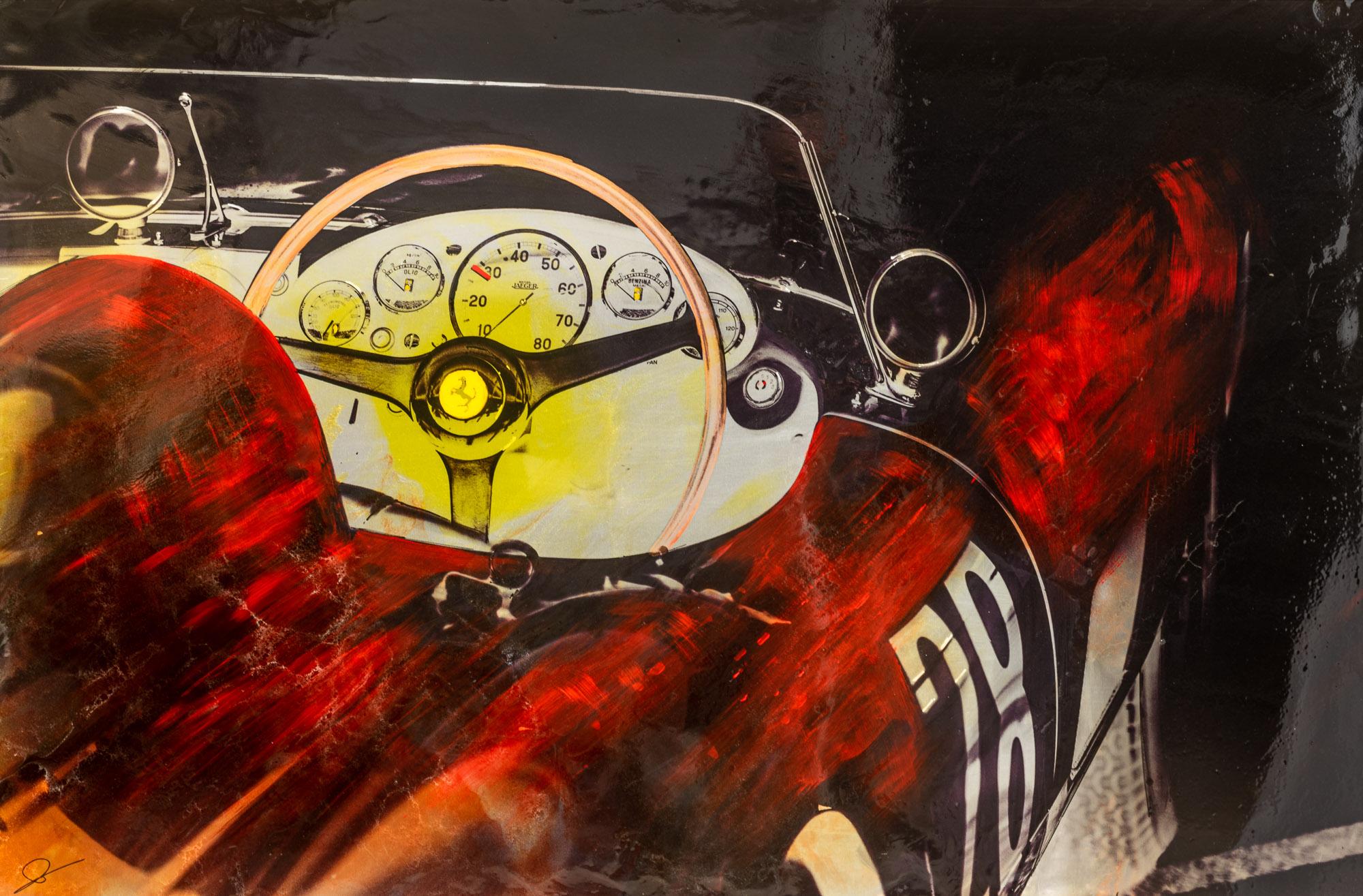Ferrari Dreaming - An Original Motorsports Art Painting by Paul Kenton