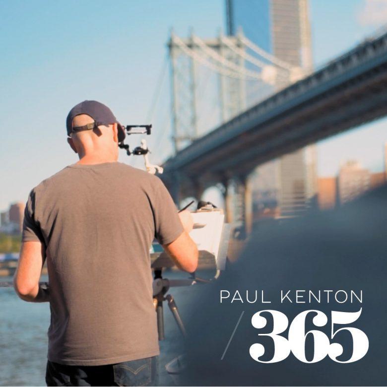 Paul Kenton paints the Manhattan Bridge in New York
