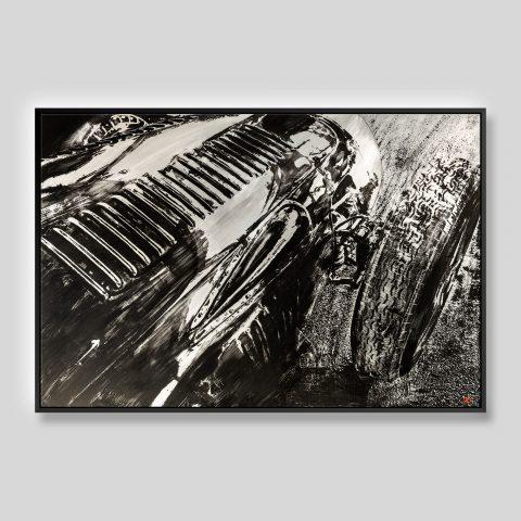 Tyre Texture - An Original Motorsport Art Painting by Paul Kenton