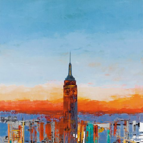 New York Romance - Limited Edition Print Manhattan Art Painting by UK Cityscape Artist Paul Kenton, from the Urban Landscapes Collection
